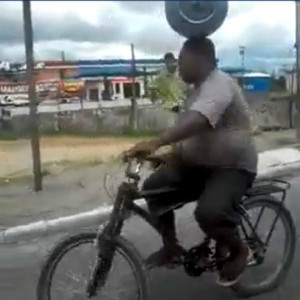 Incredible Bicycle Man In India