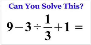 How fast can you solve this?