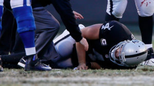 This is what it sounded like the moment Derek Carr broke his leg